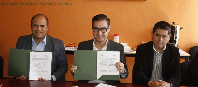 LA UVT FIRMA CONVENIO CON EL MUNICIPIO DE SANTA CRUZ TLAXCALA