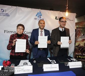FIRMA DE CONVENIO INTERINSTITUCIONAL UVT, COPARMEX Y UDA