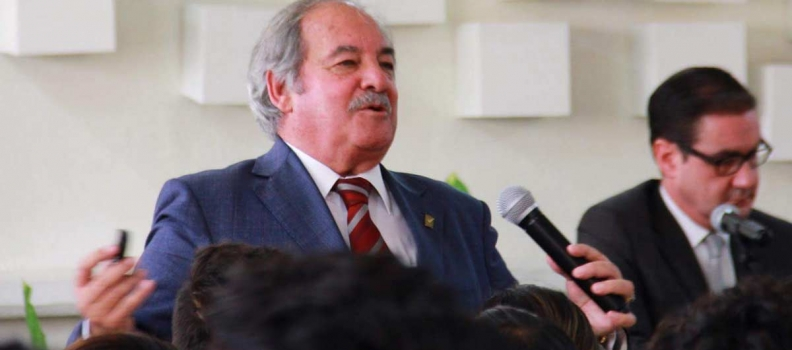 Don Camilo García Marcos en Conferencia, y Firma de Convenio COPARMEX